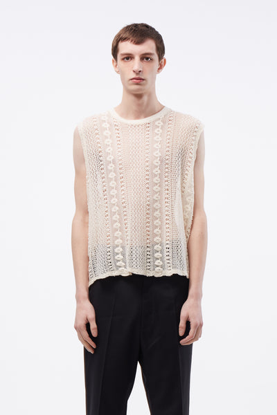 Our Legacy - Box Sleeveless Off White Crochet