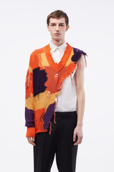 Act Of Desire - Kurt Cutaway Sweater Mixed Orange