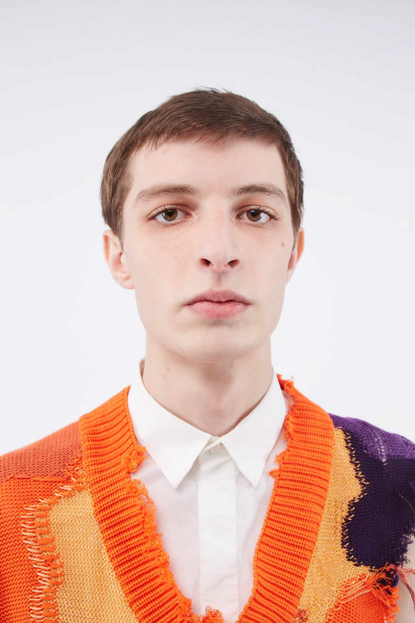 Kurt Cutaway Sweater Mixed Orange