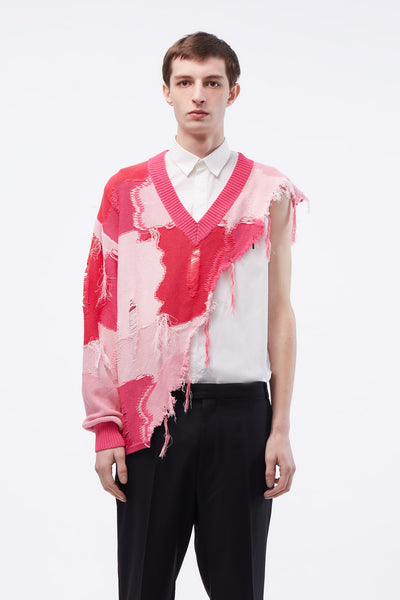 Act Of Desire - Kurt Cutaway Sweater Mixed pink