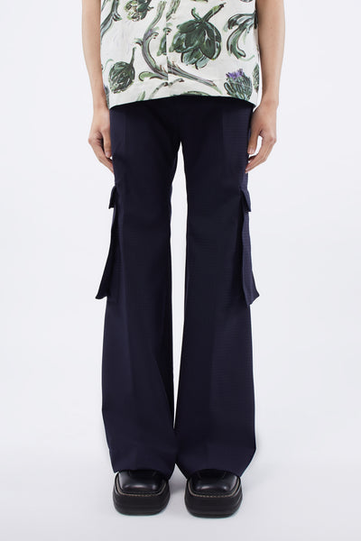 Martine Rose - Cargo Pocket Trouser Navy Check