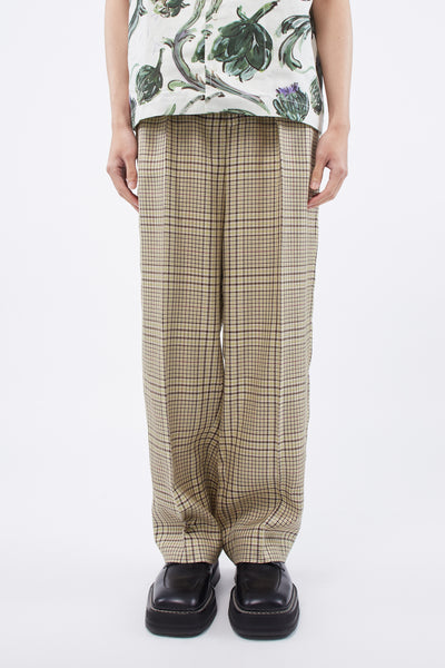 Jacquemus - Le Pantalon De Costume Green Checked Pants