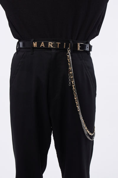 Martine Rose - Leather Belt W/ Mr 2 Chains Black