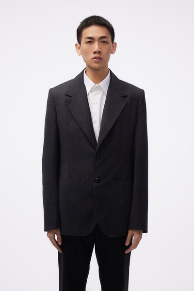 NAMACHEKO - Tailored Jacket Grey Micro Check