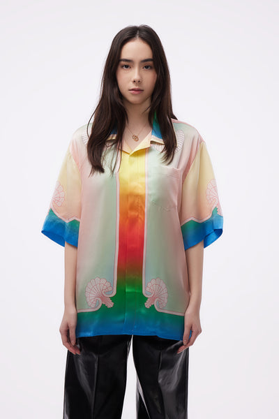 Casablanca - Lucid Dreams Printed SS Silk Shirt