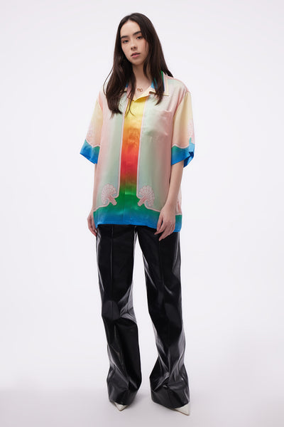 Lucid Dreams Printed SS Silk Shirt