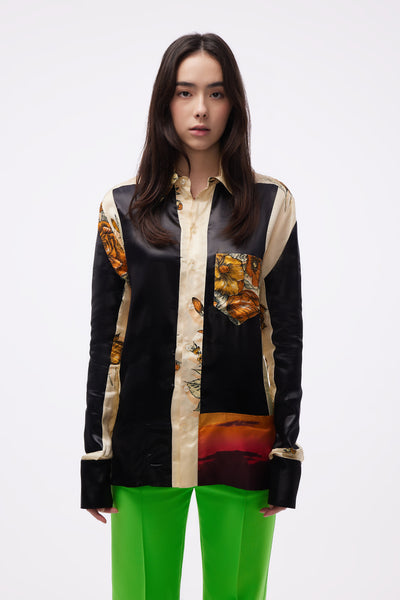 Kwaidan Editions - Panelled Buttoned Shirt Sunset