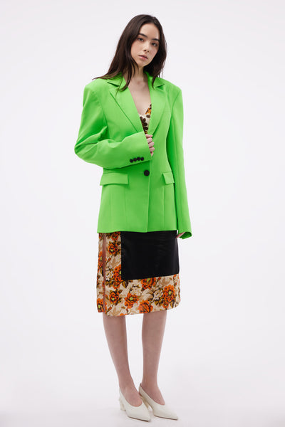 Tailored Jacket Neon Green