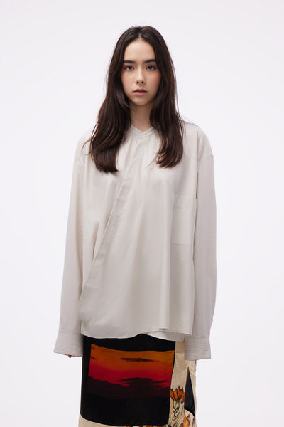 Lemaire - Wrap over Shirt Wild Dove