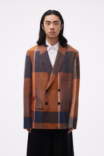 Lemaire - Belted DB Jacket Orange/brown