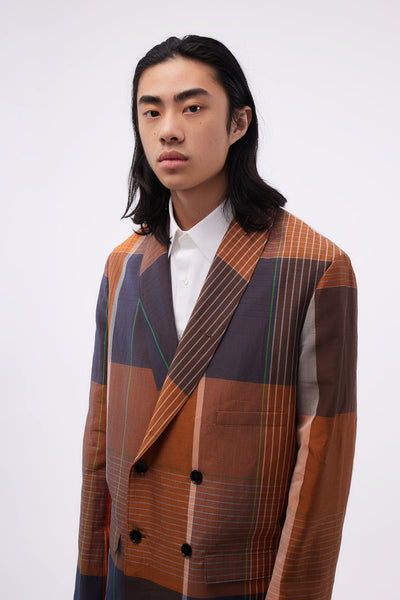 Belted DB Jacket Orange/brown