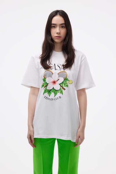 Casablanca - Casa Tennis Club Printed Tee White