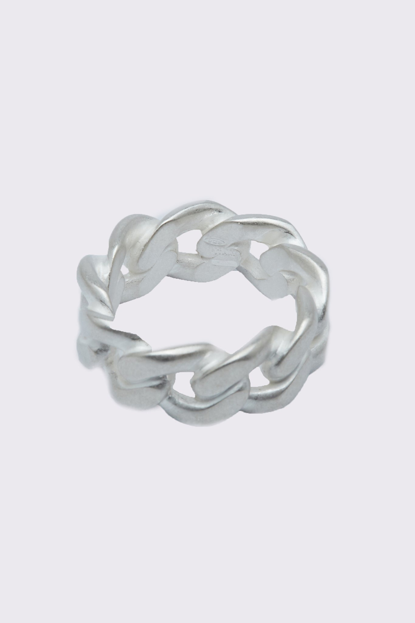 Margiela Mix Cuban Ring Silver