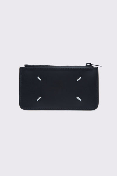 Maison Margiela - Black Leather Wallet and Card holder
