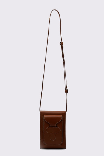Maison Margiela - Leather Cross body Messenger Bag Cuoio