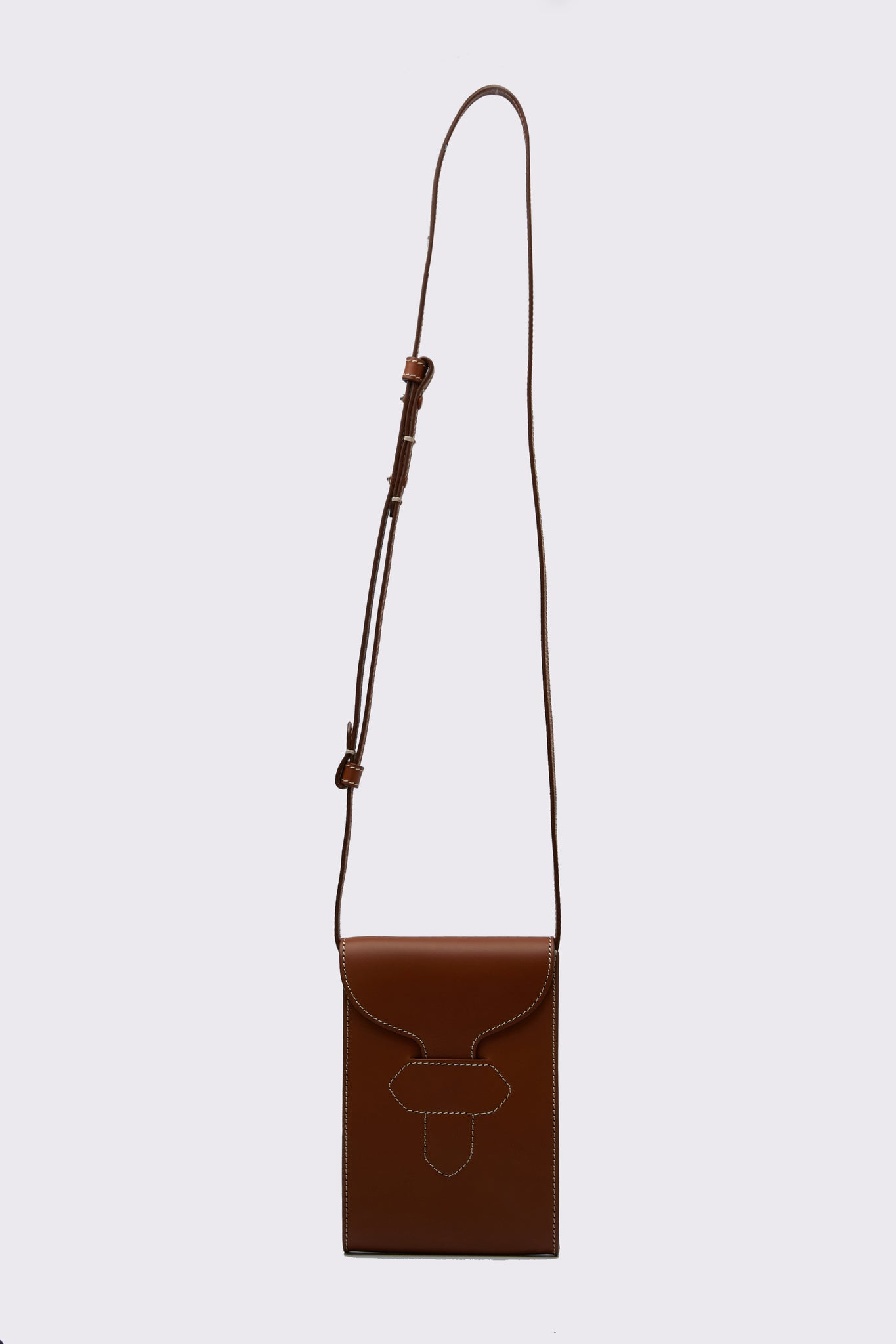 Leather Cross body Messenger Bag Cuoio