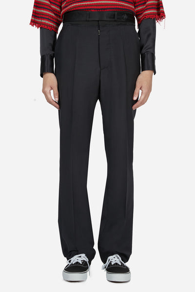 Maison Margiela - Black Belt Elastic Straight Trouser
