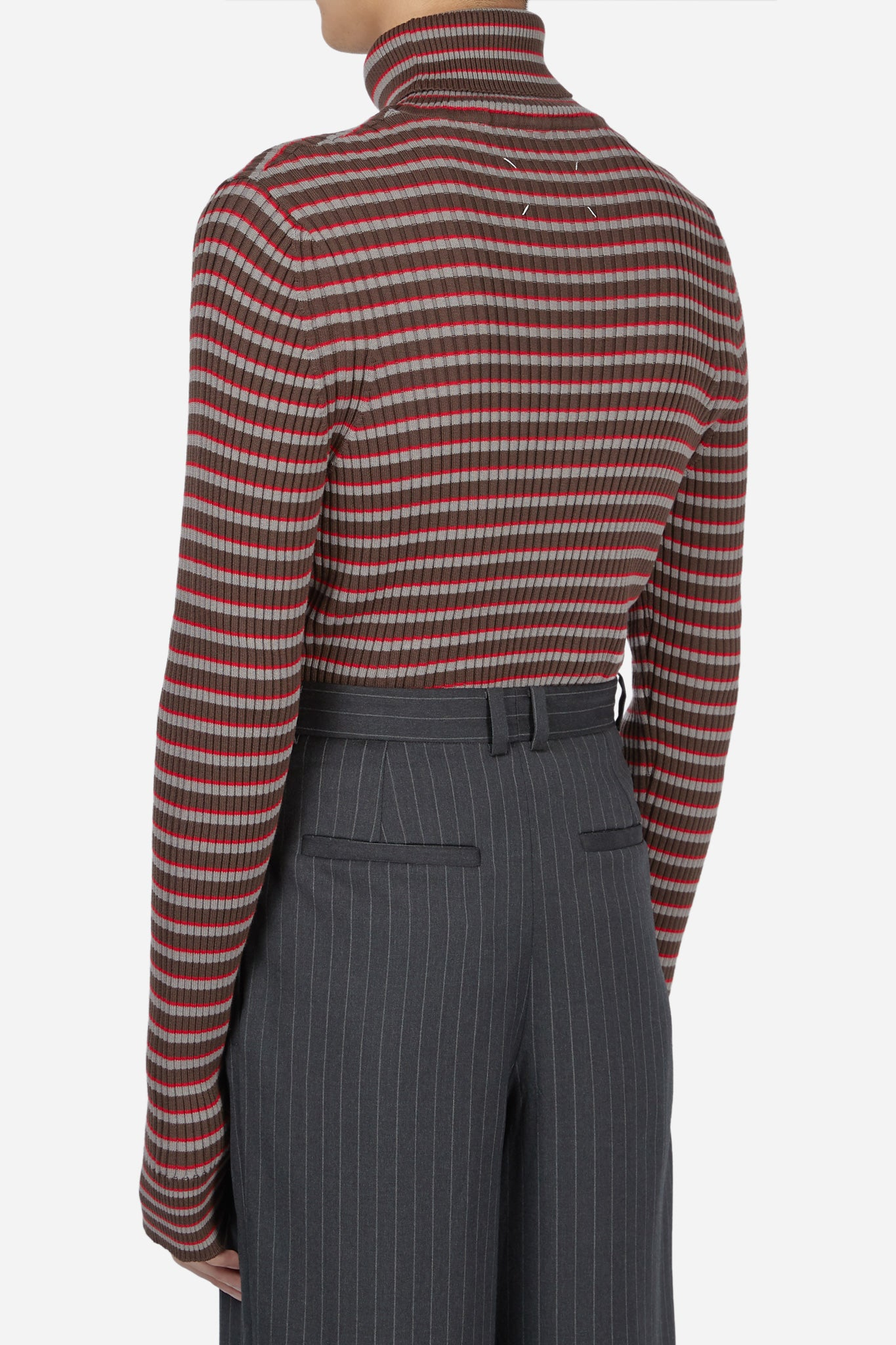 Red Striped Turtleneck