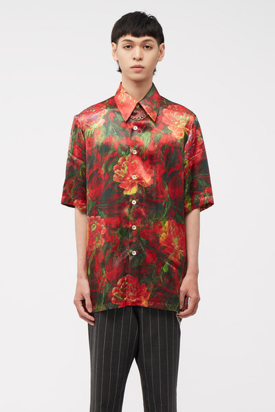 Act Of Desire - Ruen SS Shirt Peony Floral Splattered Pattern