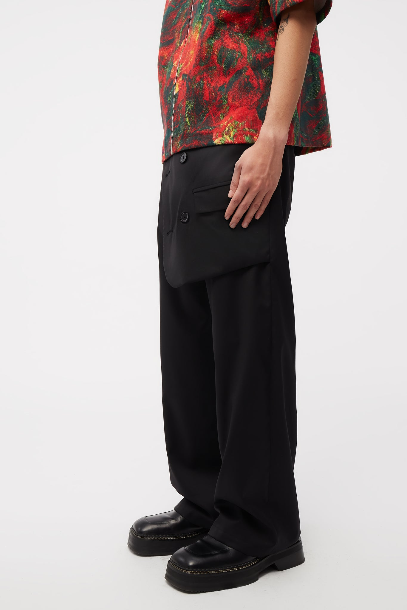 Mich Suit Layered Trousers Dry Onyx