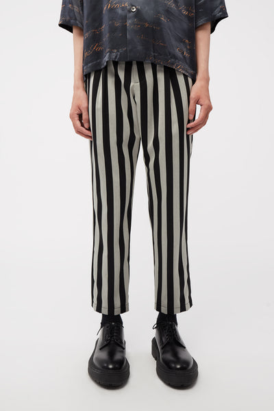 Act Of Desire - Ritz Formal Slim Trouser Dry Onyx Cool Grey Wide Stripe