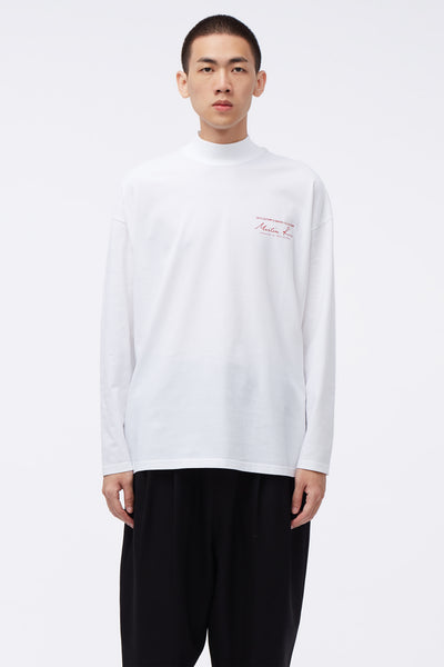 Martine Rose - Jersey Funnel Neck White Knit
