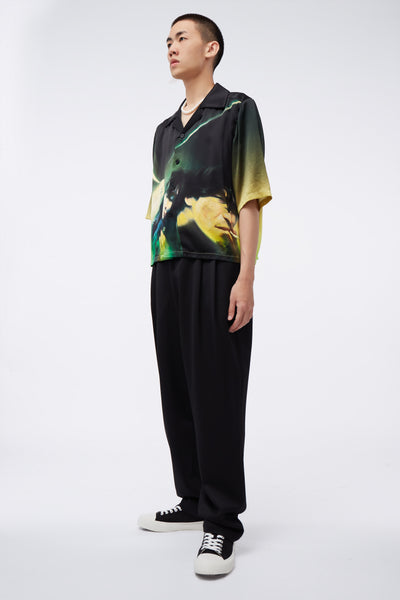 Dan Wide Leg Trousers Dry Onyx