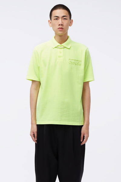 Martine Rose - Jacquard S/S Polo Top Fluoro