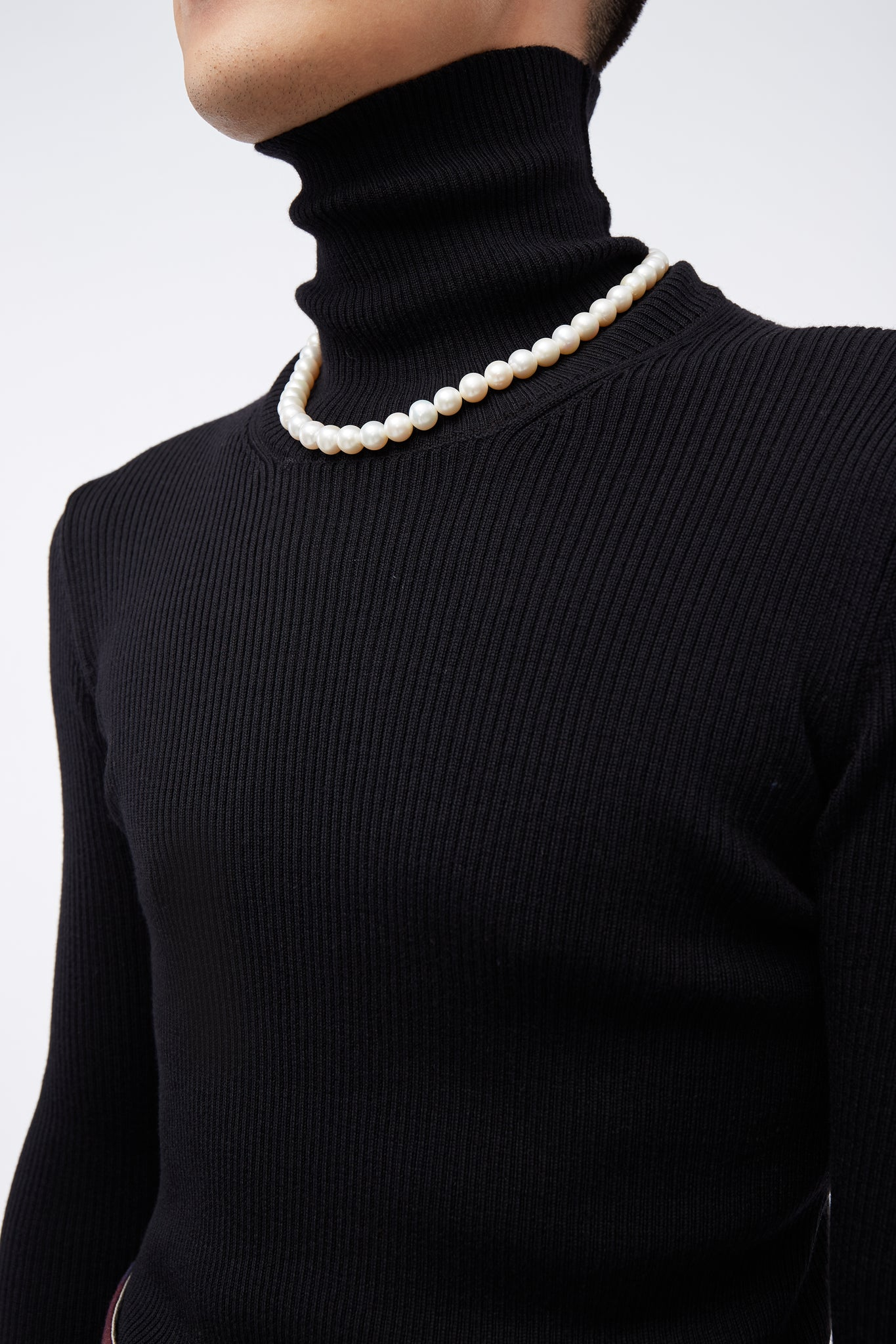 Ribbed Turtle Neck Black