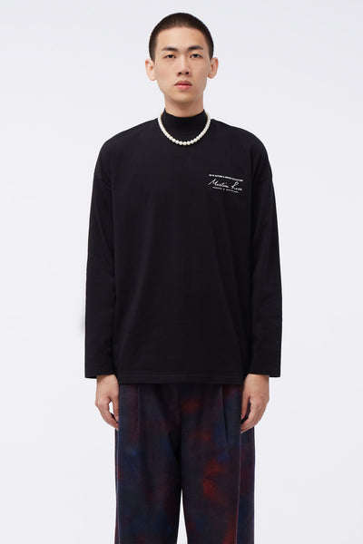 Martine Rose - Jersey Funnel Neck Black Knit
