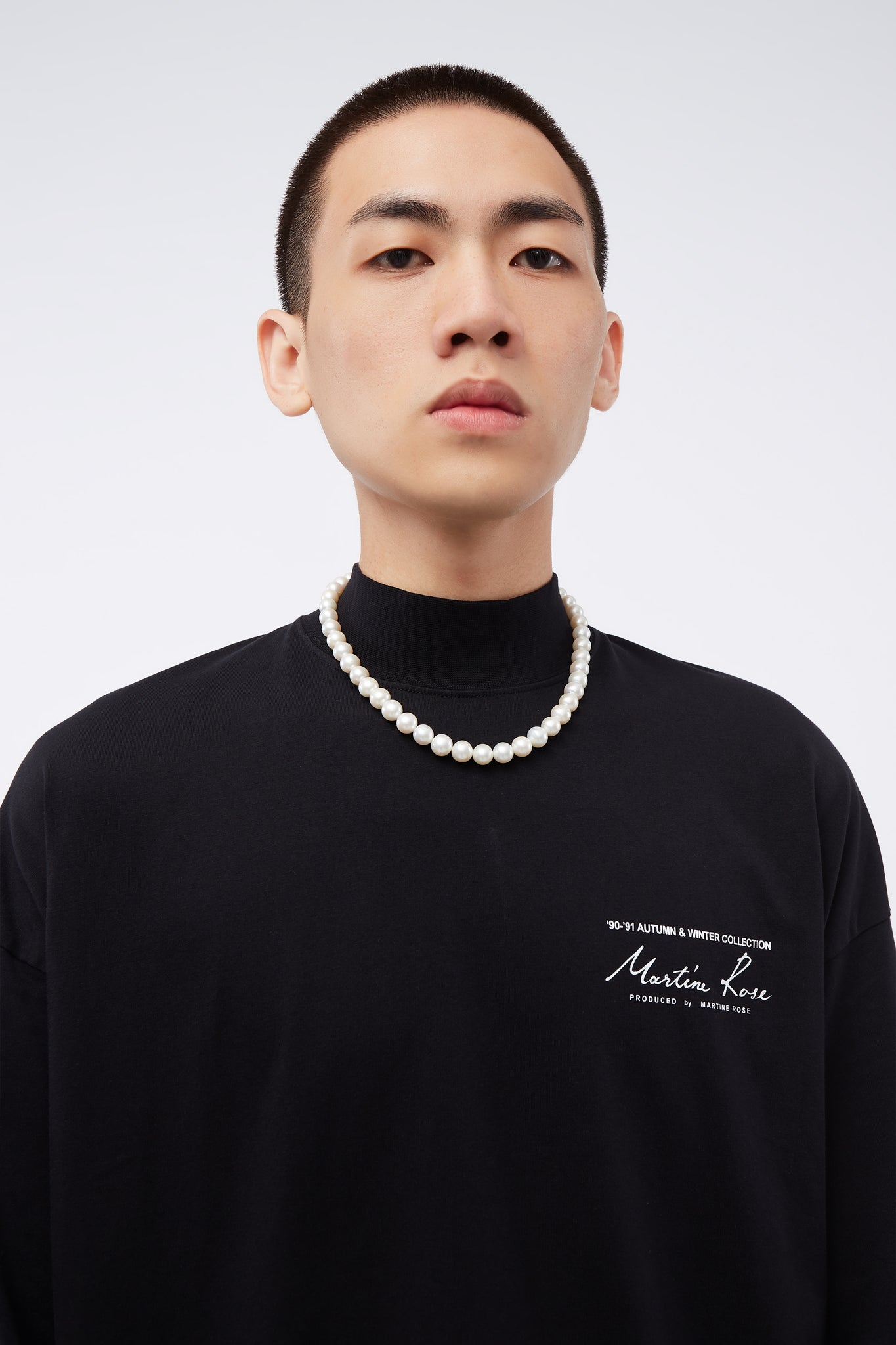 Jersey Funnel Neck Black Knit