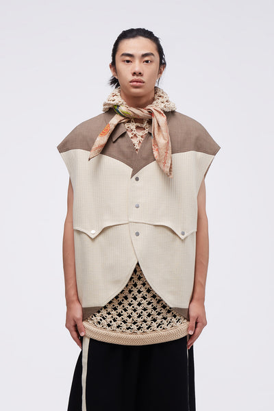 NAMESAKE - Francis Panelled Vest Multi Grains
