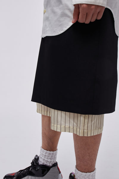 Mink Layered Skirt Black
