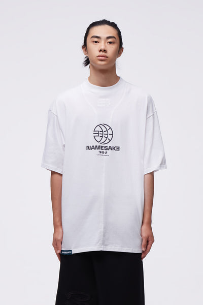 NAMESAKE - Sava Oversized Team Tee White