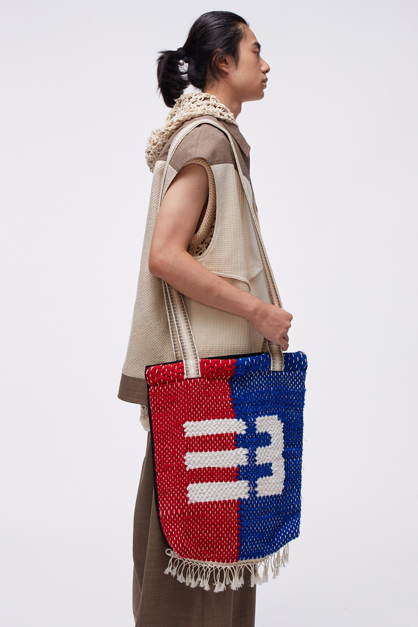 Knitted Tote Bag Multi National