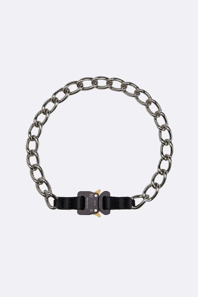 1017 Alyx 9sm - Chain Necklace W/ Leather Details Black