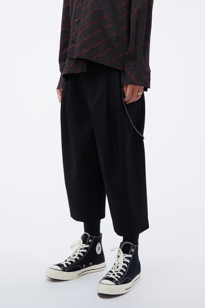 ''19.2'' Print Bucket Pants Black