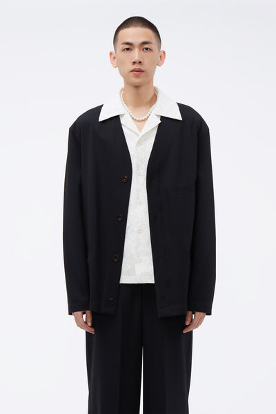 Lemaire - V-neck Jacket Black