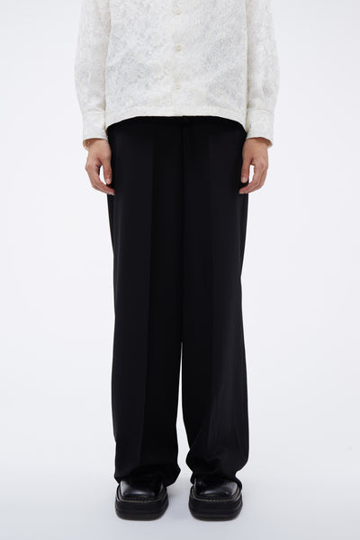Lemaire - Wide Leg Pants Black