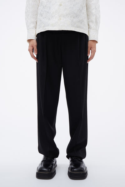 Lemaire - Unisex Pleated Pants Black