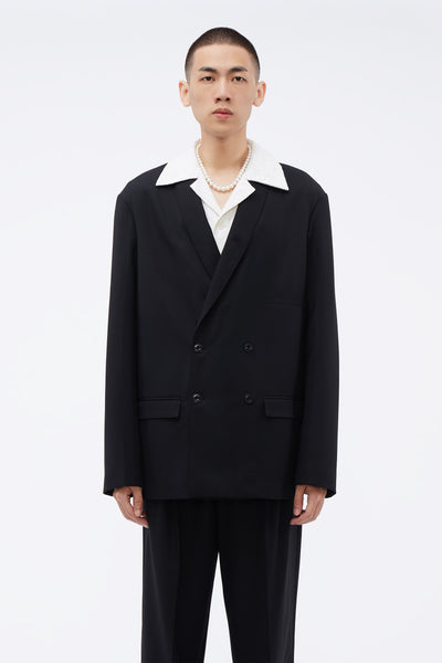 Lemaire - Double Breasted Jacket Black