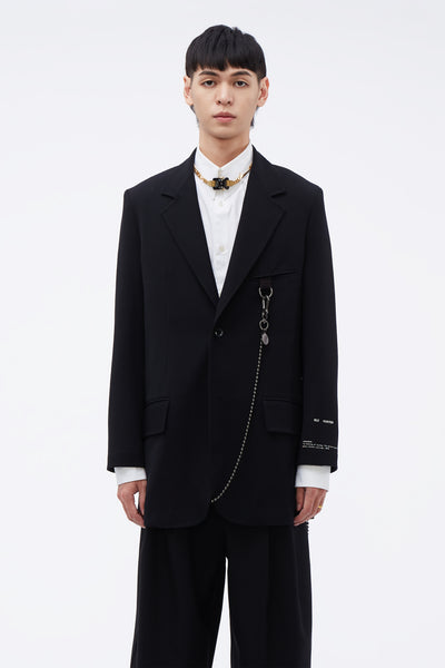 Song for the mute - ''19.2'' Print Oversized Blazer Black