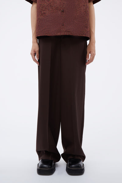 Lemaire - Wide Leg Pants Seal Brown