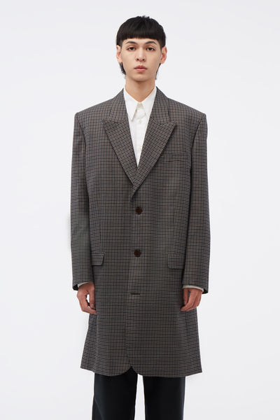 Martine Rose - Oversized Suit Jacket Grey Check