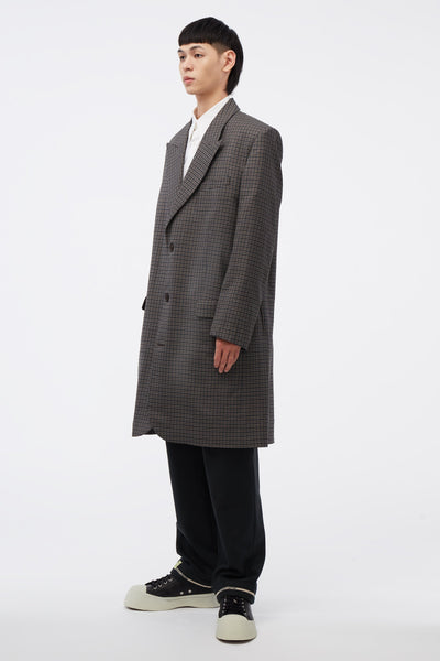 Oversized Suit Jacket Grey Check