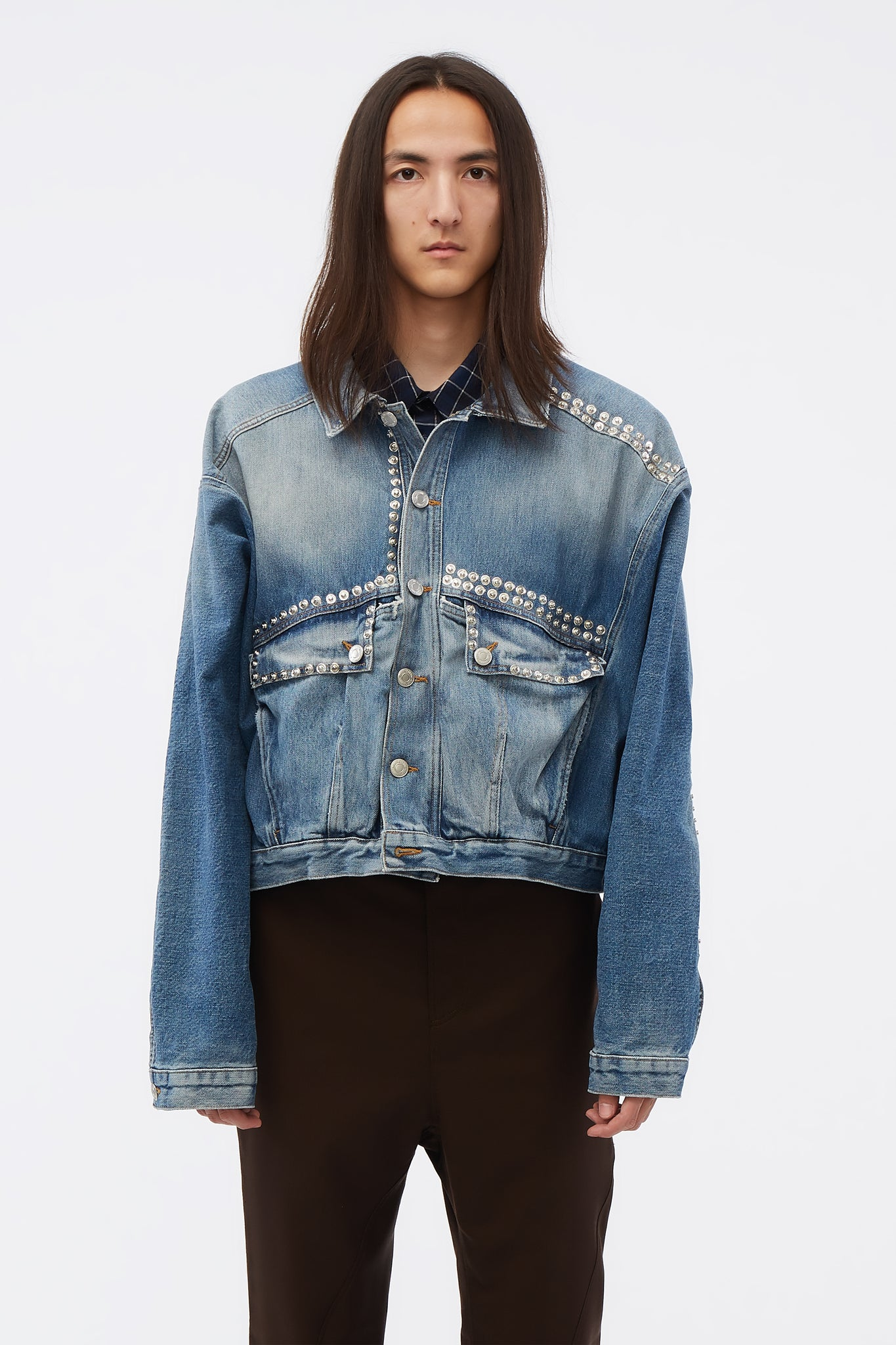 Displaced Denim Jacket Indigo