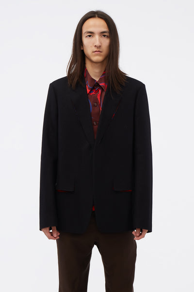 Maison Margiela - Cut-out detail Suit Jacket Black