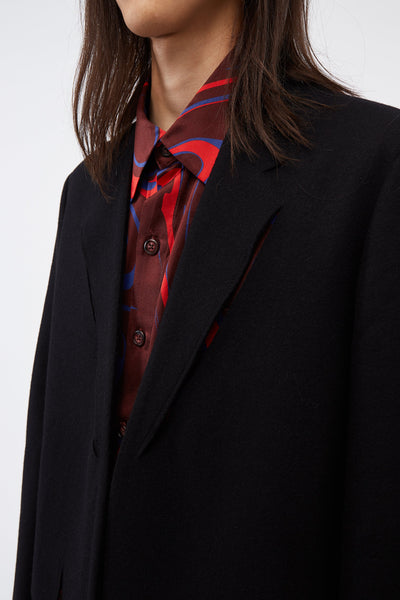 Cut-out detail Suit Jacket Black