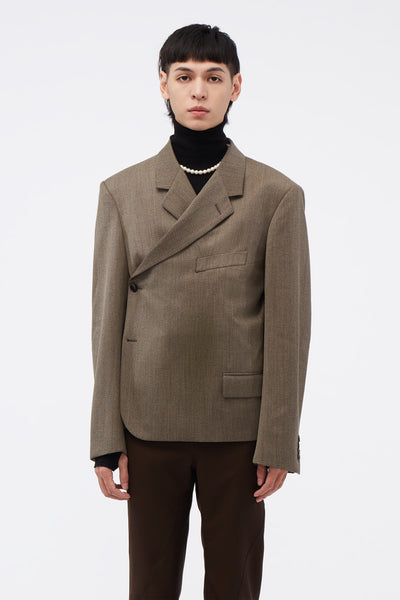 Martine Rose - Wrap Blazer Brown