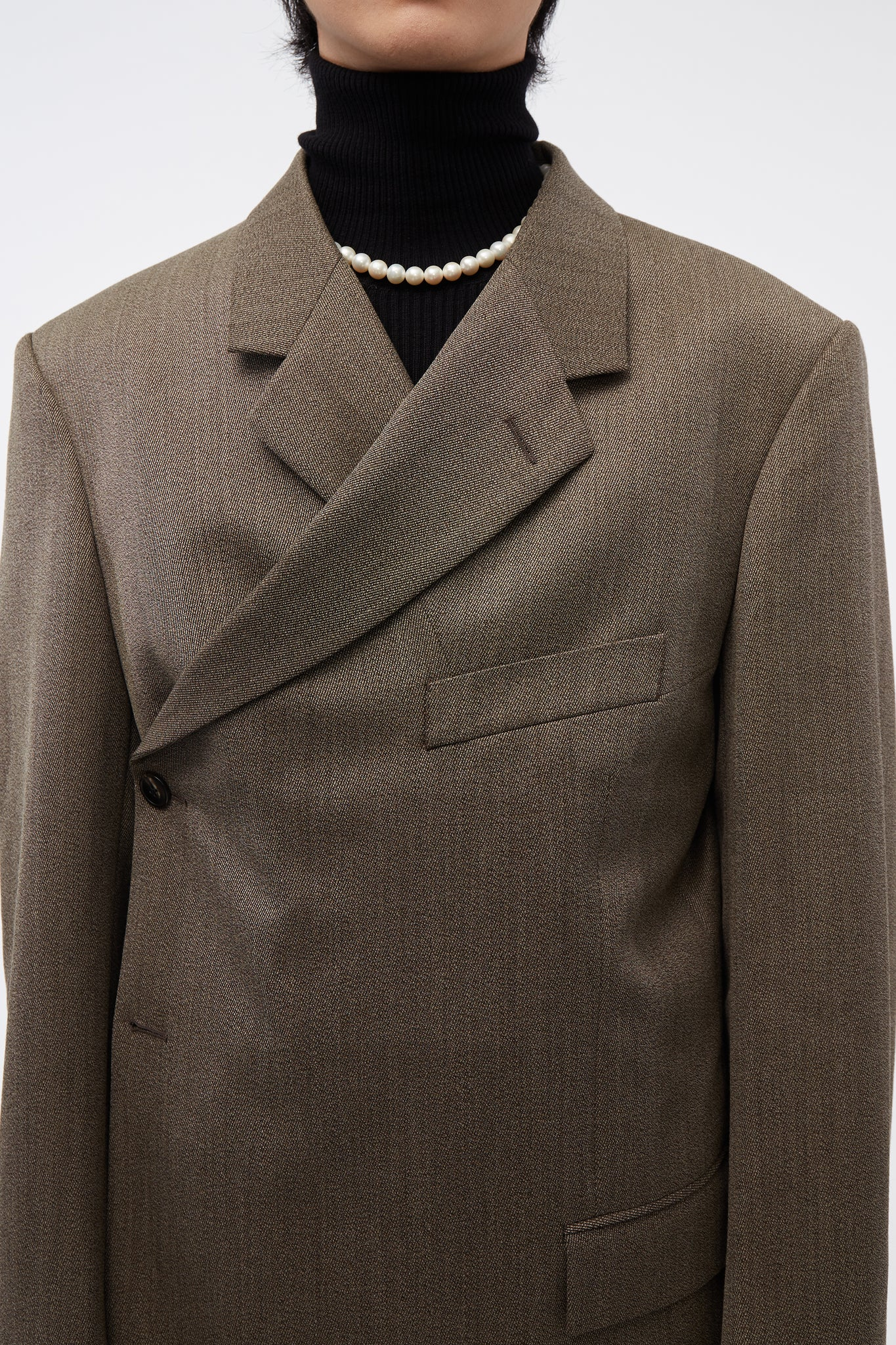 Wrap Blazer Brown